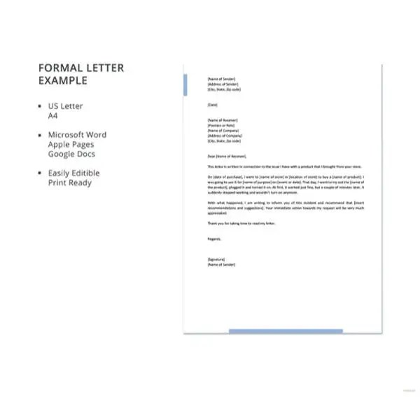 15 Formal Letter Formats Pdf Doc