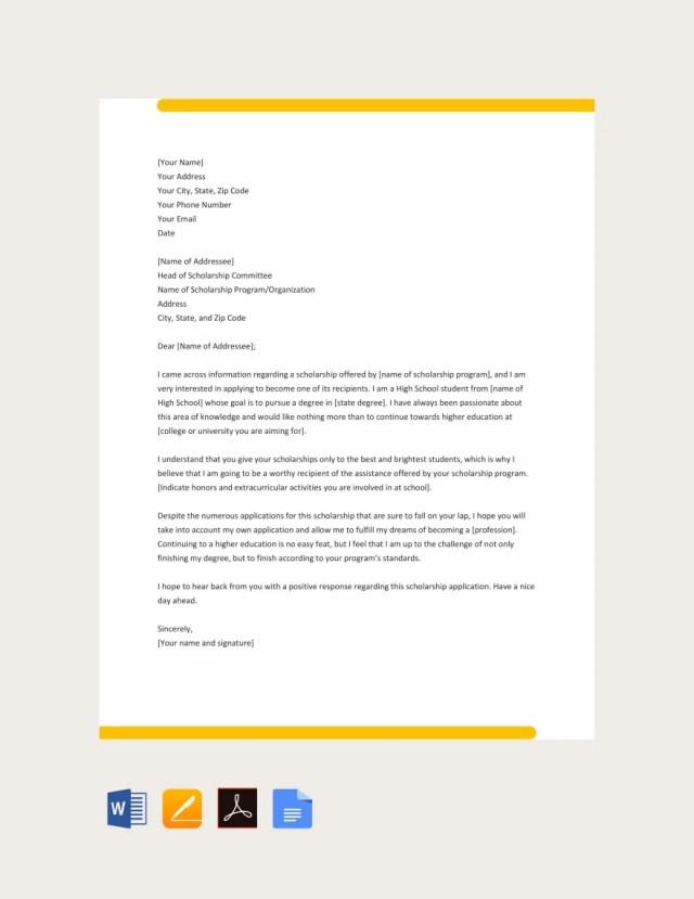 9+ Sample College Application Letters - PDF, DOC  Free & Premium