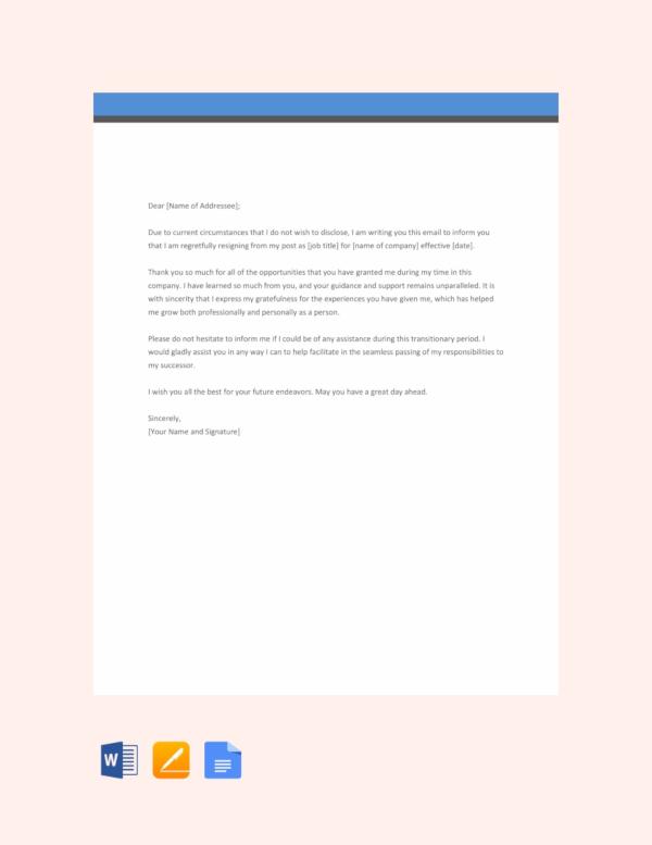 39+ Simple Resignation Letter Templates - PDF. DOC | Free & Premium Templates