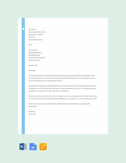 94 Best Free Application Letter Templates Samples Pdf Doc Free Premium Templates
