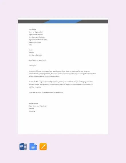 29 donation letter templates