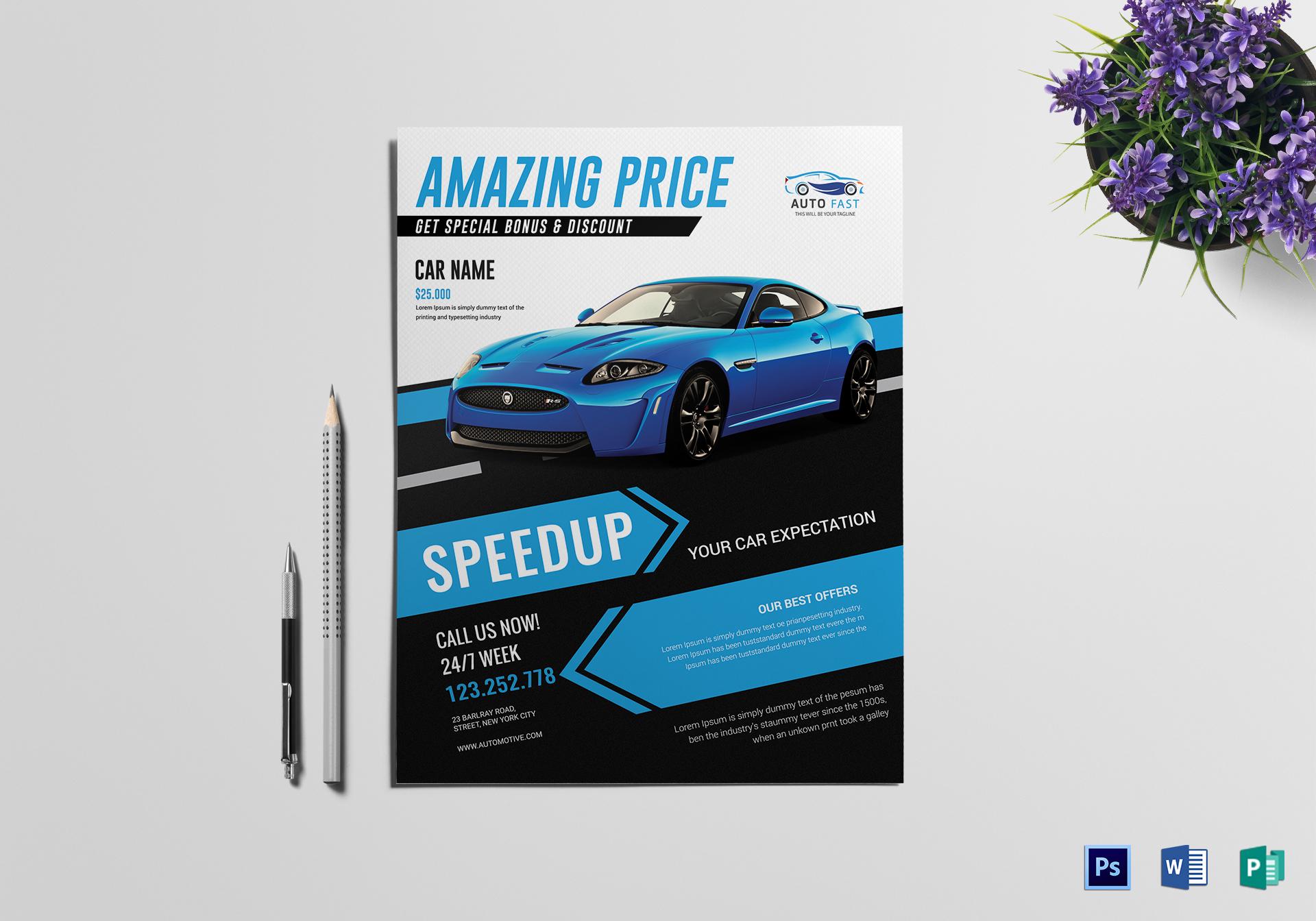 8 Automotive Car Sales Flyer Templates Free Amp Premium Templates