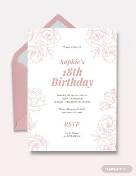 classic debut invitation card templates