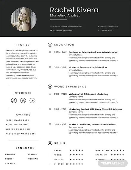 Not in love with this template? 14 Marketing Cv Templates Apple Pages Google Docs Ms Word Free Premium Templates