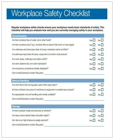 13+ Safety Checklist Templates - Google Docs. MS Word. Pages. PDF   Free & Premium Templates