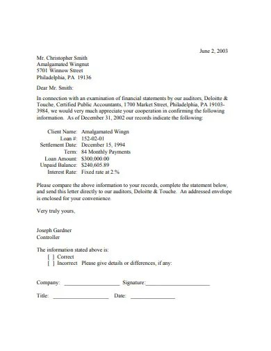 5 Audit Confirmation Letter Templates In Doc Pdf Free Premium Templates