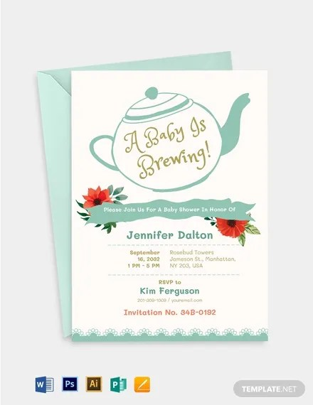 Potluck Baby Shower Invitation Template : potluck, shower, invitation, template, Office, Shower, Invitation, Templates, Pages, Illustrator, InDesign, Photoshop, Publisher, Premium