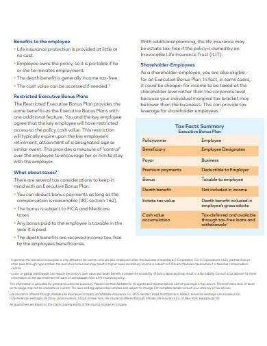 10+ Executive Bonus Plan Templates in PDF | Free & Premium Templates