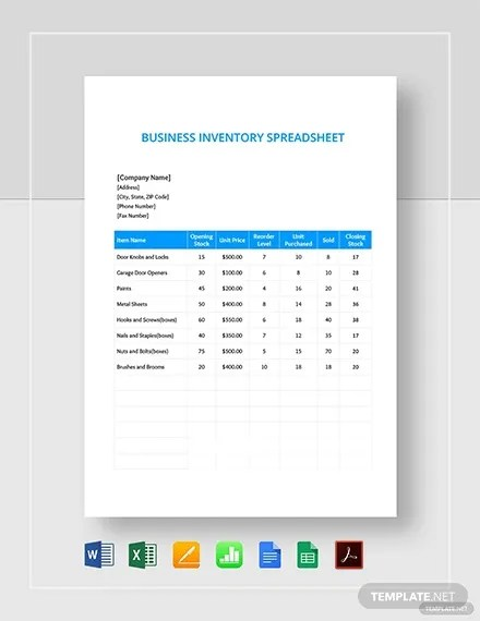 Sample Inventory Spreadsheet : sample, inventory, spreadsheet, Inventory, Spreadsheet, Template, Word,, Excel, Documents, Download, Premium, Templates