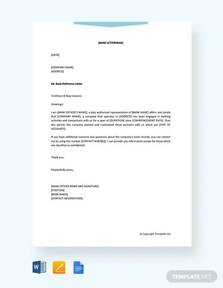 Bank Letter Templates 13 Free Sample Example Format Download Free Premium Templates