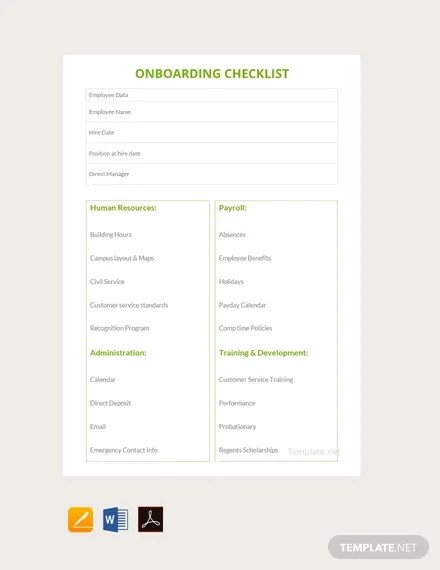 Learning objectives template can be used during the initial onboarding stage at the internship site, such as orientation or the first supervision meeting. 10 Onboarding Interns Checklist Templates In Google Docs Excel Word Numbers Pages Pdf Free Premium Templates