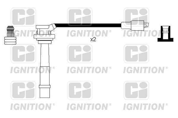 HT Leads Ignition Cables Set fits SUZUKI CARRY 1.3 1999 on