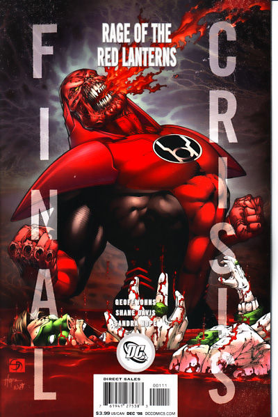 Final Crisis Rage Of The Red Lanterns #1 (VARIANT COVER)