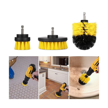 EXTREME SGD - THIS IS AWESOME! SEE THE VIDEO! 3 Piece Scrub Brush Drill Attachment Kit - All purpose power scrubber for those tough to clean places! Great for kitchens, bathrooms, tile, grout, and washing your car! Tons of great reviews on Amazon! - SHIPS FREE!