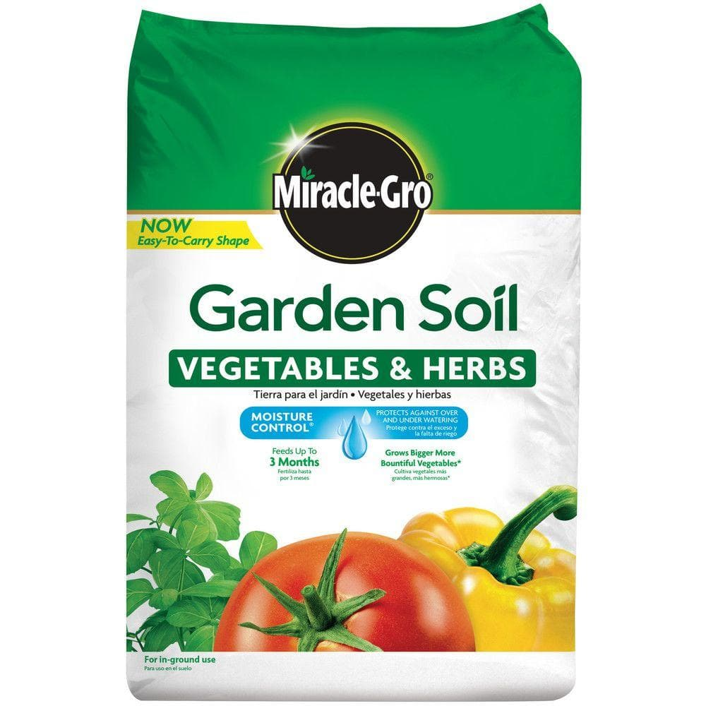 Miracle Gro Moisture Control 1 5 Cu Ft Garden Soil For Vegetables And Herbs 73759430 The Home Depot