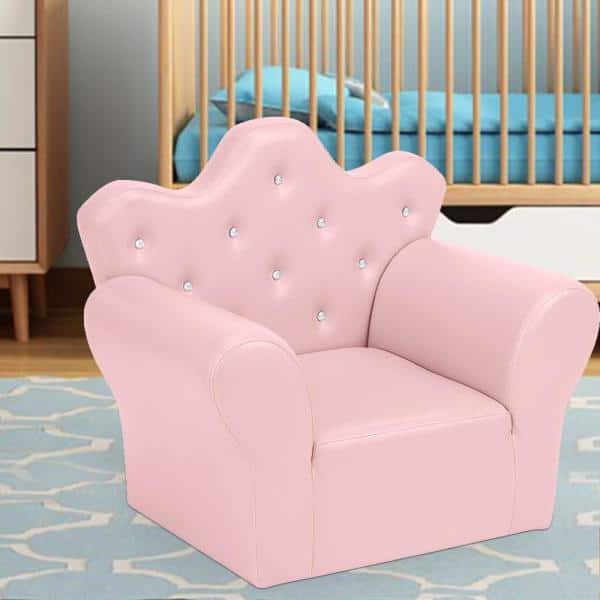 Winado Pink Sponge Pu Leather Kids Sofa Set Of 2 687403159193 The Home Depot