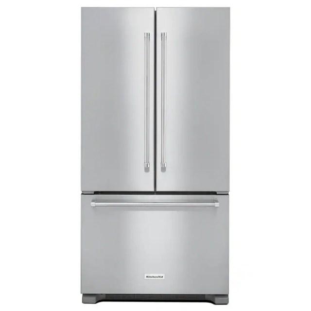 stainless steel kitchenaid french door refrigerators krfc302ess 64 1000