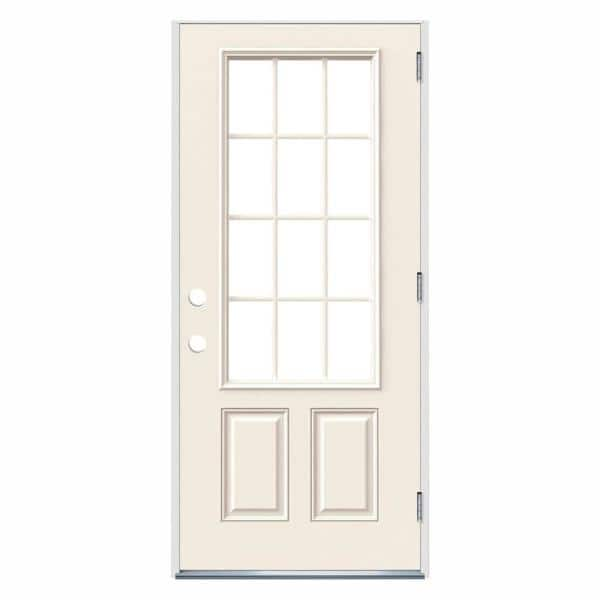 primed jeld wen steel doors with glass thdjw190900030 64 600