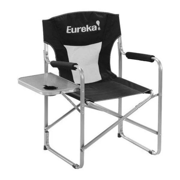 camping chairs with side table cochrane oak and eureka directors chair w camp click to enlarge