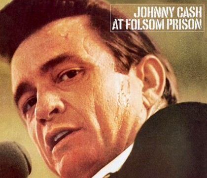 Covert art for the album, Johnny Cash At Fulsom Prison.