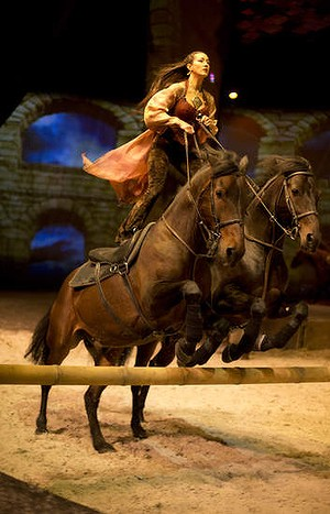 Kansas Carradine in <i>Cavalia</i>.