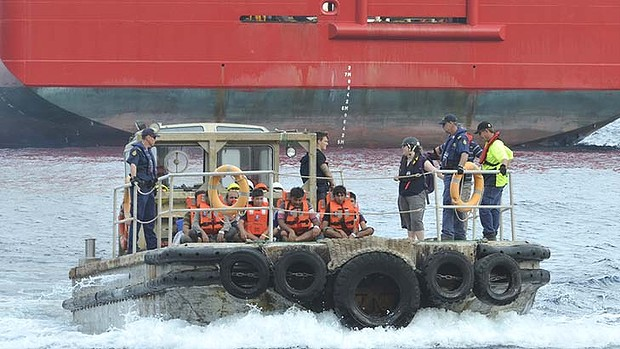 Thwarting sabotage at sea: Abbott government reportedly buying 16 hard-hulled lifeboats.