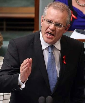 Staying silent over lifeboats: Scott Morrison.