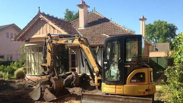 Demolition begins at Ngara, the Kew childhood home of Gough Whitlam.