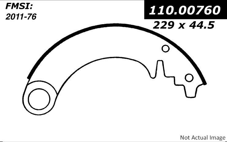 StopTech 111.00760 1950 Jeep Willys Rear Drum Brake Shoe
