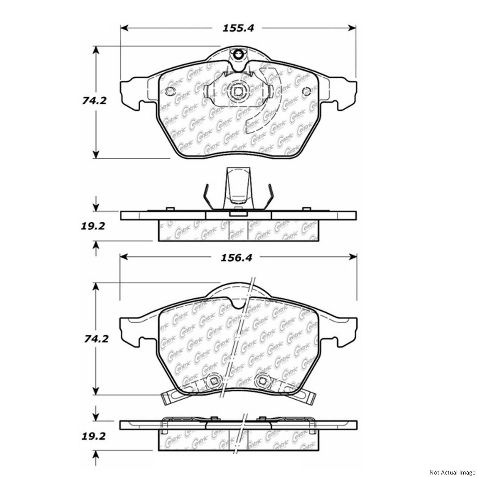 StopTech 300.08190 2000 Saturn LS1 Front Disc Brake Pad
