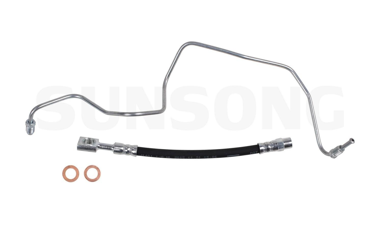Brake Hydraulic Hose Rear Left Outer Sunsong