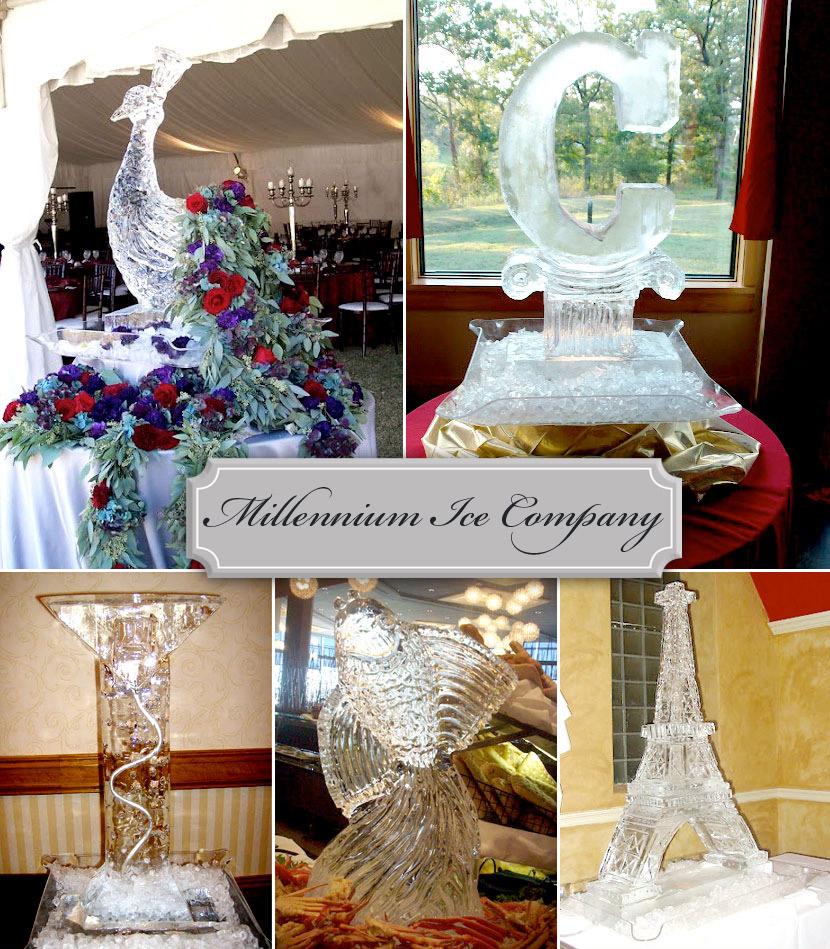 Wedding Ice Sculptures from Millennium Ice