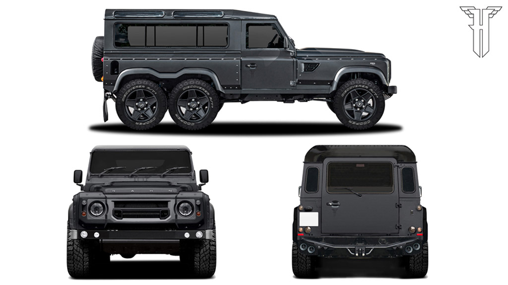 A Kahn Design Builds Land Rover Defender Based 6x6 Live