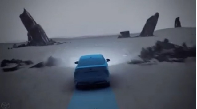 Toyota 'Turning Point' video ad for hydrogen fuel-cell vehicles, frame grab, Sep 2014