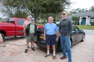 Randy Siebert, Sam Astley, Steve Siebert, Dave Noland on NY-to-FL road trip [photo: David Noland]