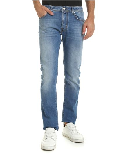 light blue jeans with