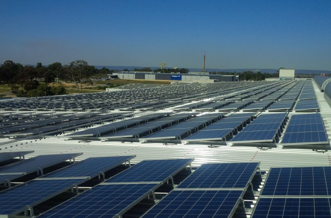 Western Australia S Largest Private Solar Array Covers The Roof Of This Food Distribution Centre In Perth South Aap Image Bidvest