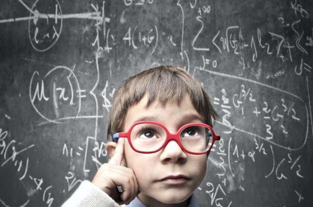thinking why smart child
