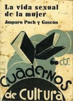 Portada de la publicación 'La vida sexual de la mujer' en Cuadernos de Cultura. Valencia, 1932.