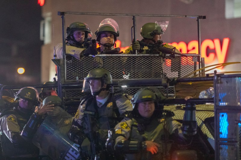 Militarization has fostered a policing culture that sets up protesters as  'the enemy'