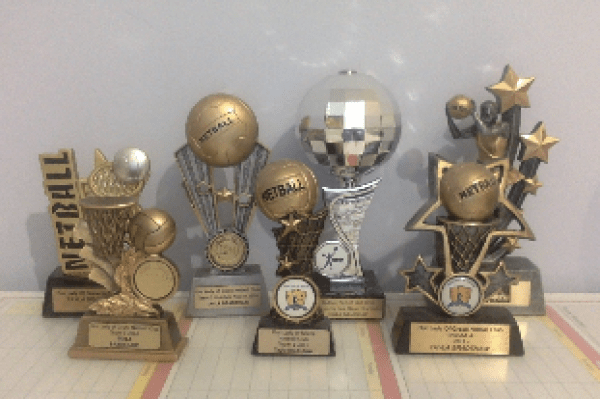 Image of sports trophies