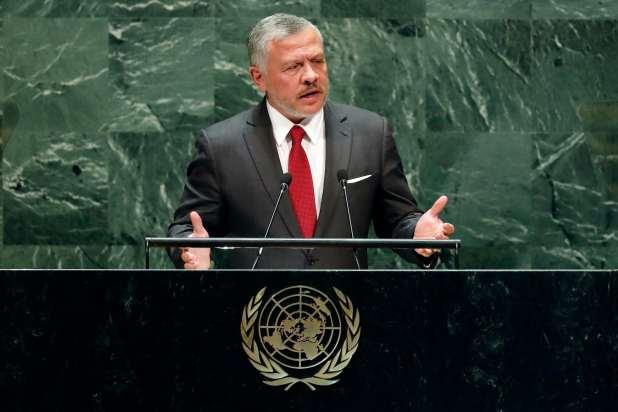 King Abdullah speaks at the UN