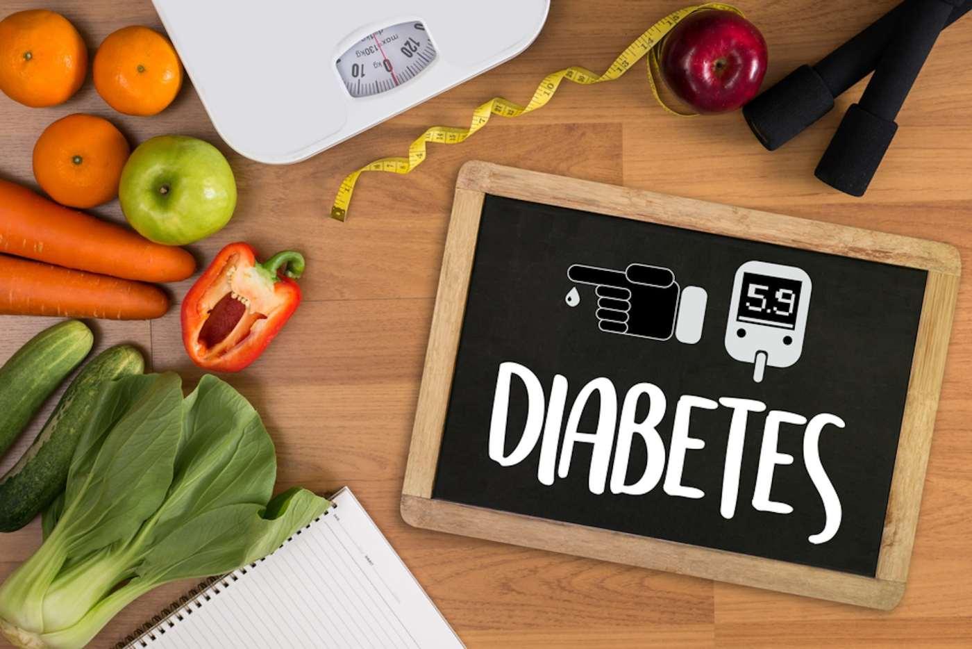 Diabetes test and fruit image