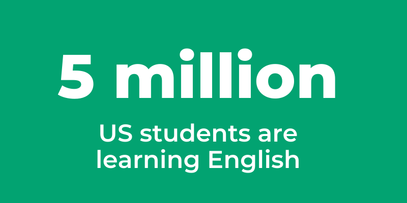 1 in 10 US students are learning English
