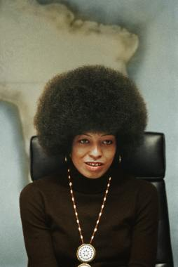 African American woman with afro hairstyle