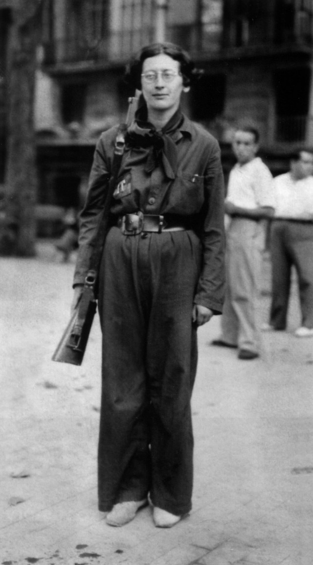 Weil joined the Durruti Column, the largest anarchist group formed during the Spanish Civil War.