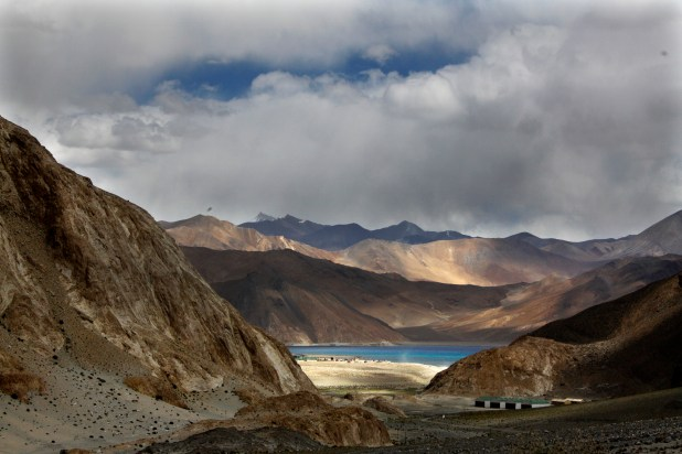 Pangong Lake near the India-China border