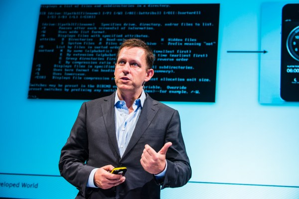 Peter Thiel considers the code of human nature. Heisenberg Media/Flickr, CC BY-SA