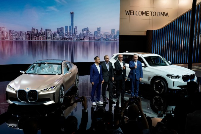 Ford, Nissan and BMW unveiled new electric cars and SUVs at the Auto China 2020 show in Beijing.