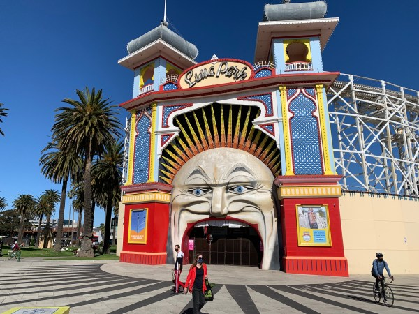 Entrance to Luna Park in St Kilda